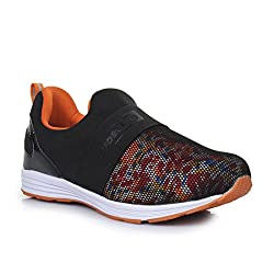 Force 10 (from Liberty)) Womens Black Running Shoes - 6.5 UK/India (40 EU)(5936006100400)