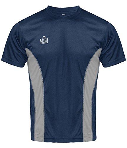 Admiral Titan Fußball-Shirt, Navy / Silber, Erwachsene S (Tee T-shirt Erwachsene Silber)