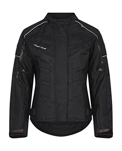 Rider-tec Motorradjacke Textil Damen?rt-2400-b, schwarz, Größe L