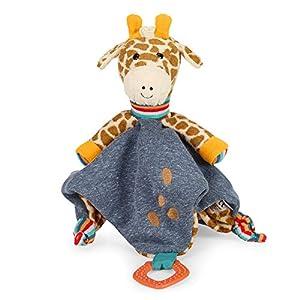 Sterntaler- Kuschelzoo-Mantita de Seguridad para bebé, diseño de Jirafa Meses, tamaño: 38 cm, Color, (3211951)