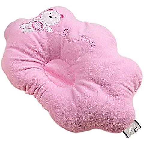 Bambino appena nato Pillow Cute Cartoon orso respirabile morbido pelo di sostegno impedice la testa piana cuscino della testa forma corretta - Cuscino Dell'anello Set