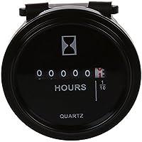 Stundenzähler BetriebStundenzähler Zähler 6V-80V DC / AC-Runde Quartz Stunde Meterspur für Boat Auto-LKW-Motoren