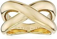 خاتم من الستيل للنساء مطلي بطلاء ايوني ذهبي من تومي هيلفجر، - 2700964E
