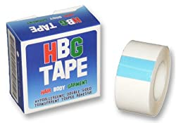 Transparent Toupee Adhesive Tape (Wig Tape,Dress Tape,Body Tape) 25mm by HBG Tape (Hair, Body and Garment Tape)