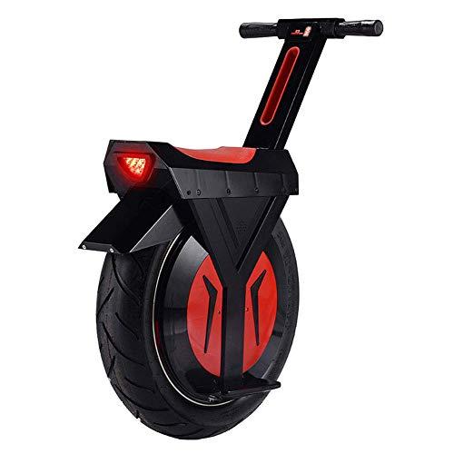 XYDDC Monociclo eléctrico Negro, E-Scooter Monociclo Vespa con Altavoz Bluetooth, Gyroroue Unisex Adulta, 17' 60V / 500W, a 90 km