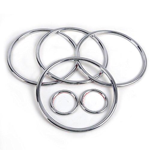 ABS Chrom Audio Lautsprecher Stereo dekorative Ring Abdeckung Loop für 2013 2014 Ford Kuga / Escape
