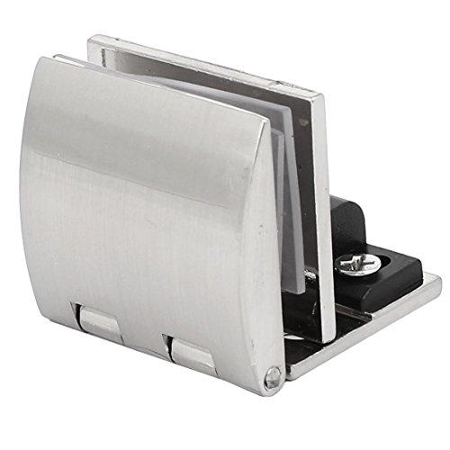 Regal Klemmen (sourcingmap® 5mm-8mm Dick Metall Wand montiert Glas Tür Scharnier Klemmen Regal Clip Silber de)