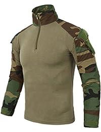 Neues Outdoor Jagd Tarnung T-Shirt Maenner Atmungsaktiv Armee taktisches K 2X 2X