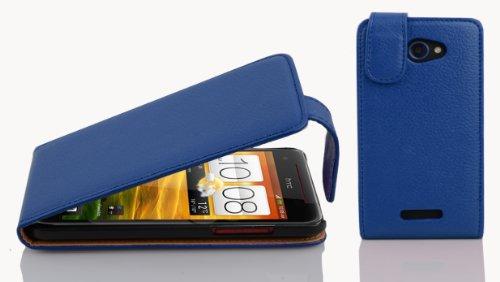 Preisvergleich Produktbild Cadorabo Hülle für HTC Butterfly Hülle in KÖNIGS blau Handyhülle aus Strukturiertem Kunstleder im Flip Design Case Cover Schutzhülle Etui Tasche Königs-Blau