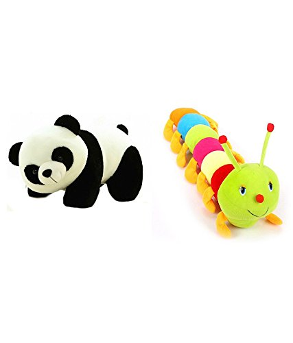 Deals India Panda and Caterpillar Soft Toy