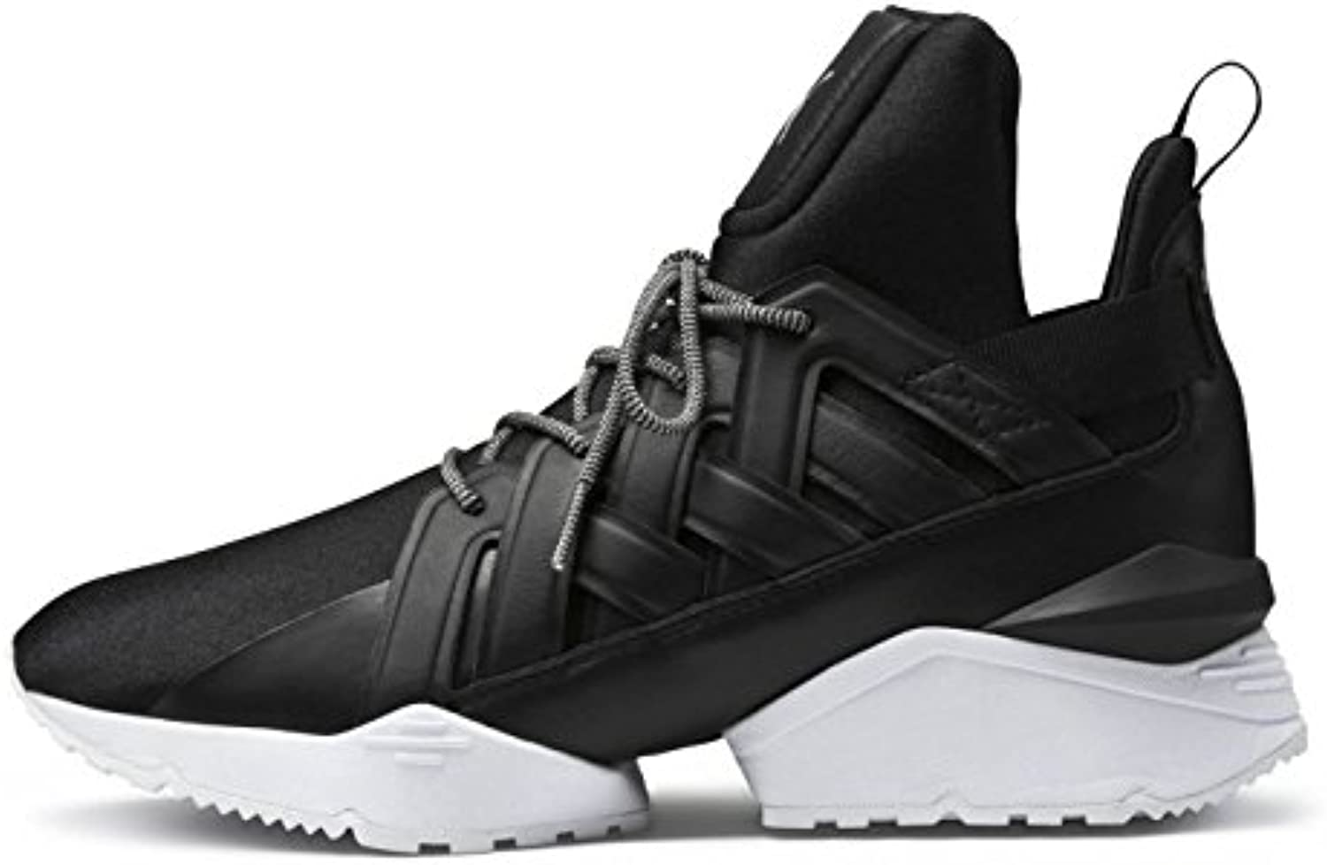 48c3fcb4486 PUMA Women s Muse Echo Satin EP Black Women s White White 10.5 PUMA B US  B073WHFKQ4 Parent c1f9ad1