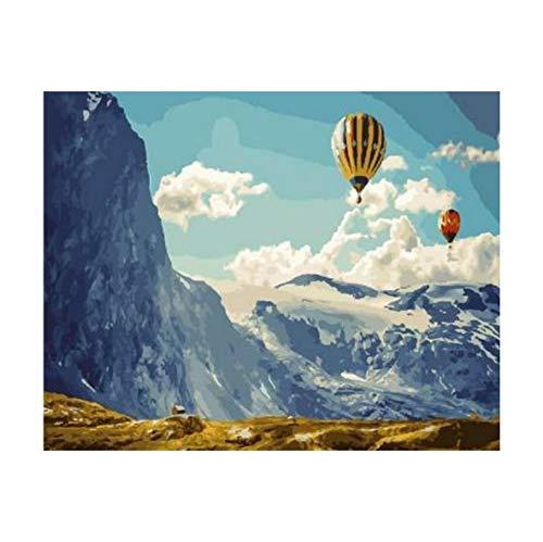 Puzzle 1000 Piezas Globo Aerostático En El Paisaje De Montaña Decoración Del Hogar