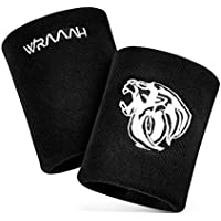 WRAAAH Premium Schweissband Handgelenk 2er Set - Wristband, Schweißbänder für Basketball, Yoga, Fitness, Laufen,Tennis