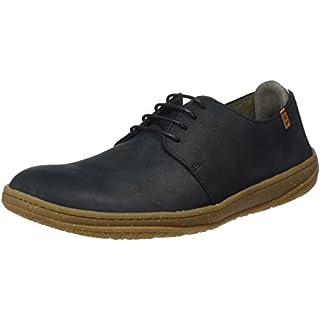 El Naturalista Men's N5381 Pleasant Black/Amazonas Low-Top Sneakers, 8 UK