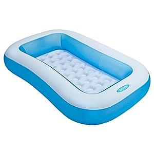 Intex 57403 Pataugeoire gonflable rectangulaire pour petits enfants.