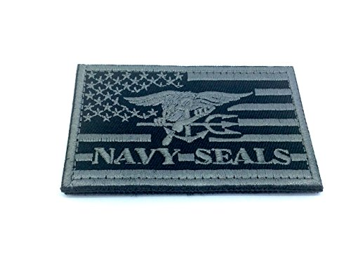 Schwarz Us Navy Seal (US Navy Seal Special Ops-, Softair-, Paintball, Schwarz, 80mm x 50mm)