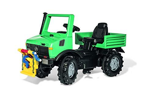 Rolly Toys 38206 Unimog Forst Traktor mit Seilwinde Powerwinch, grün