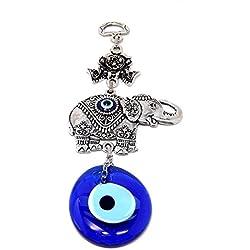 Wanddeko Wandschmuck Deko - Elefant - Glücksbringer blaues Auge