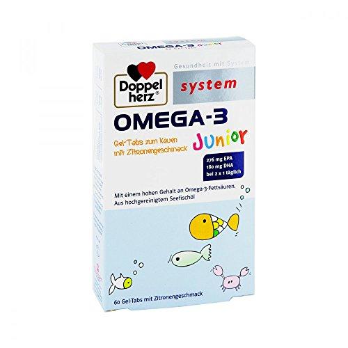 DOPPELHERZ Omega-3 Junior Gel-Tabs system Kautabl. 60 St Kautabletten