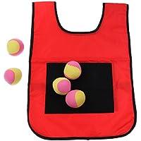 Preisvergleich für Baoblaze Outdoor Dodgeball Klett Weste Werfen Ziel Spiel Sport Dodge Tag Sticky Spielzeug