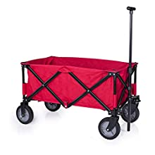 Chariot pliable Campart HC-0911 – Capacité de 70 kg – Rouge