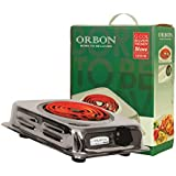 ORBON 1250 Watt Rectangular Silver Chrome G Coil Stove Hot Plate Induction Cooktop/Induction Cookers/Electric Cooking Heater/Induction Radient Cooktop ( MADE IN INDIA )( HUGE DIWALI DISCOUNT & FREE SHIPPING )