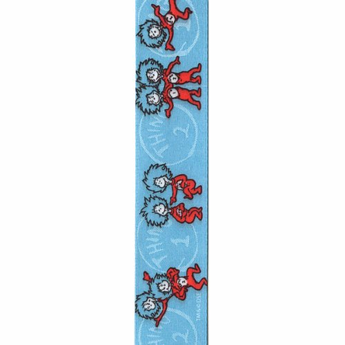 Unbekannt Offray Dr. Seuss Bastelband Thing One, Thing Two 7/8 Inch x 9 Feet Thing One Thing Two Blue