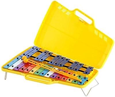 CARRILLON Ángel (AX25N3) Cromatico (25 Teclas) De Colores (Xilófono en maletín)