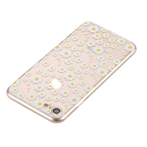 Per iPhone 7 Cover , YIGA Moda arancione cibo Cristallo Trasparente Cassa Silicone Morbido TPU Case Caso Custodia Protettiva Shell per Apple iPhone 7 (4.7) HX57