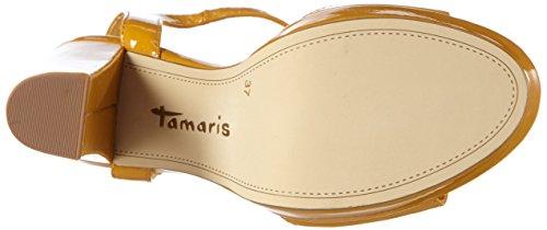 Tamaris - 28371, Sandali con platea Donna Giallo (Gelb (YELLOW PATENT 620))