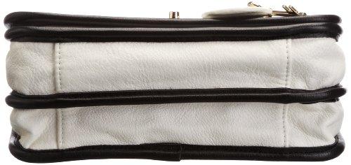 Oohlala Jasmine, Borsa a spalla donna Bianco (bianco / nero)
