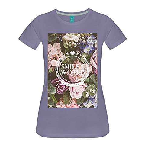 Smiley World Various Flowers In Bloom Women's Premium T-Shirt by Spreadshirt®‎, M, washed