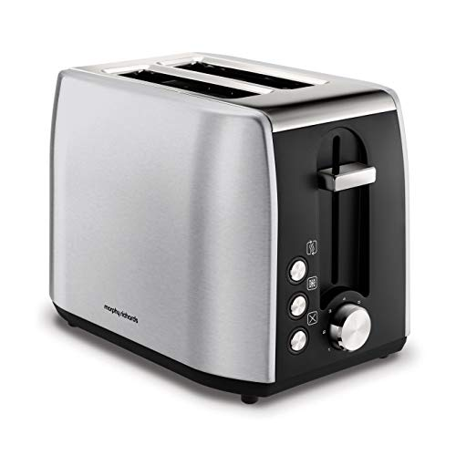 Morphy Richards 222057 Stainless Steel 2 Slice Toaster, Brushed Best Price and Cheapest