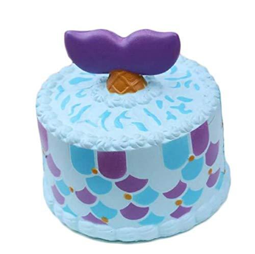 LBAFS Einhorn Shark Cake Langsam Steigende Squishy Spielzeug Stress Relief Cartoon Squeeze Spielzeug Simuliert Kuchen, B