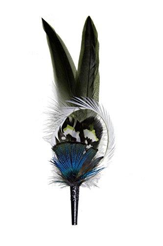 Gollwitzer Schmuckfedern Echte Hutfeder von der Ente mit Gans und Hülse, für den Trachtenhut