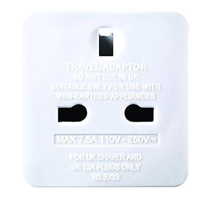 masterplug UK to EU Plug Adapter Converter with 2.1 A USB Charger
