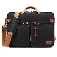 COOLBELL Convertible Backpack Messenger Bag Shoulder Bag Laptop Case Handbag Business Briefcase Multi-Functional Travel Rucksack Fits 15.6 Inch Laptop for Men/Women (Black)