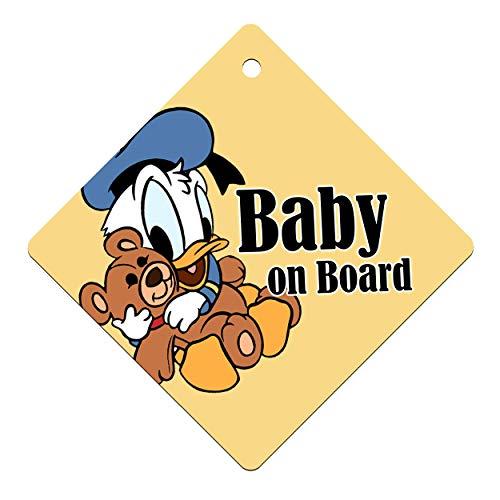 I-CHOOSE LIMITED Baby Autofensteraufkleber - Baby an Bord Kinder Zeichen für Jungen und Mädchen - Einseitig mit Saugnapf