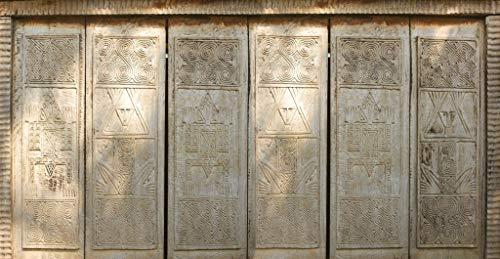 PLAGE Africa Cabecero de Cama Adhesivo, Tela, Gris, 160x3x60 cm