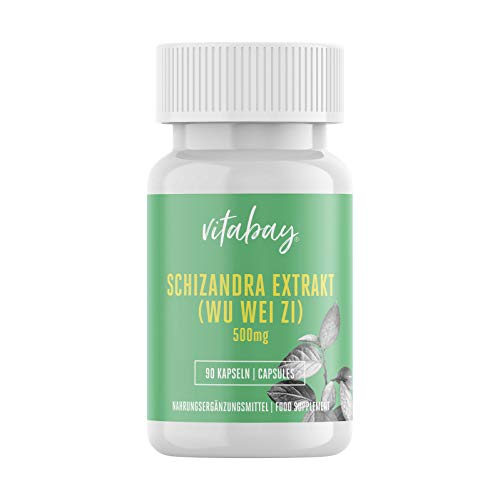 Schizandra Extrakt 500 mg - 90 vegane Kapseln - Schisandra (Wu Wei Zi) hochdosiert - liefert Schizandrin