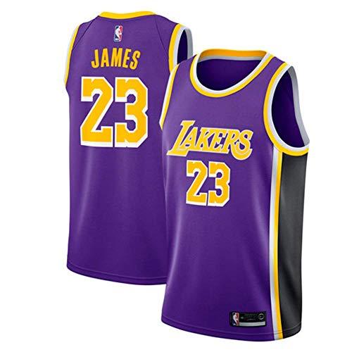 c2af069f Runvian Camiseta de Baloncesto para Hombre, NBA Lebron James # 23 LA Lakers  Retro Jugador