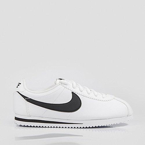 Nike - Cortez GS - 749482102 - Farbe: Schwarz-Weiß - Größe: 39.0 (Nike Cortez Schwarz Weiß)