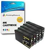 5 XXL Compatibili Cartucce d'inchiostro per Epson WorkForce Pro WP-4015 WP-4025 WP-4025DW WP-4095 WP-4500 WP-4515 WP-4525 WP-4525DNF WP-4535 WP-4535DWF WP-4545 WP-4545DTWF WP-4595 - Nero/Ciano/Magenta/Giallo, Alta Capacità