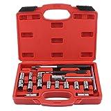 Funnyrunstore 17 STÜCKE Fuel Engine Injector Seat Cutter Set Carbon Decarbonise Reinigung Injektoren Ändern Auto Auto Repair Tool Garage