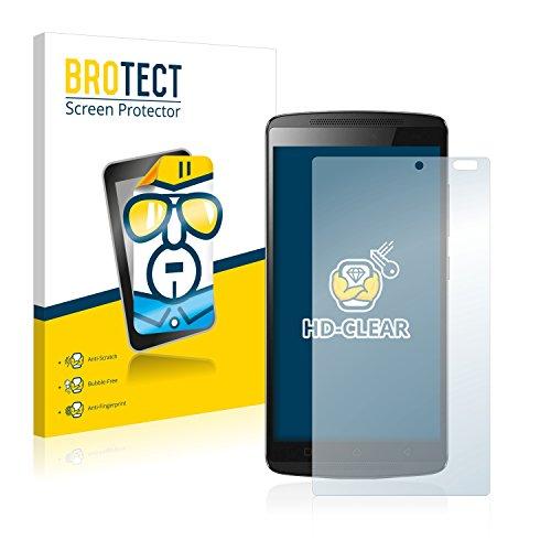 BROTECT Schutzfolie kompatibel mit Lenovo A7010 [2er Pack] - kristall-klare Bildschirmschutz-Folie, Anti-Fingerprint