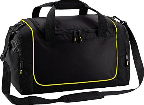 Quadra Sport Reisetasche Aufbewahrung Reise Gepäck Duffle Teamwear Spind Tasche One Size Mehrfarbig - Black / Yellow