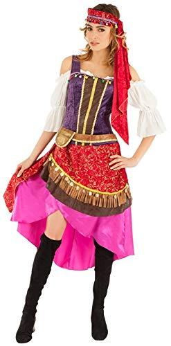 Chaks C4350M Kostüm Gypsy Lady für Erwachsene, Größe ()