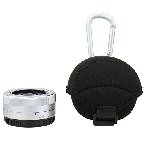 JJC jn-s 62x 40mm klein Neopren Objektiv Tasche für spiegellose Olympus Sony-Schwarz