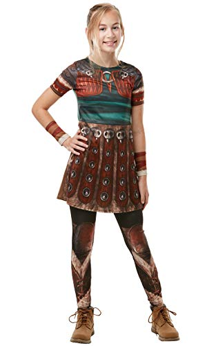 Kostüm Astrids - Rubie's 300007 9-10 How to Train your Dragon Fancy Dress, Mädchen, mehrfarbig
