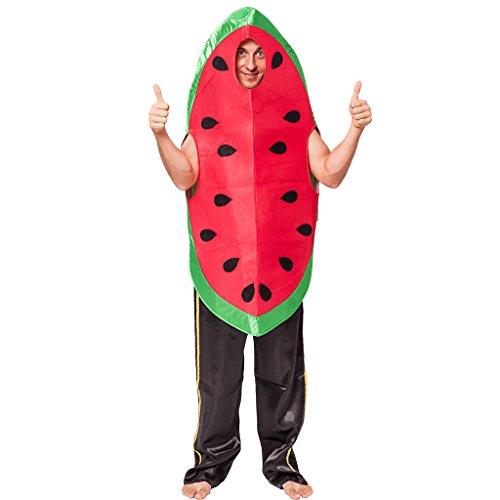 EraSpooky Unisex Essen Lebensmittel Obst Wassermelone Kostüm Faschingskostüme Einteiler - Halloween Party Karneval Fastnacht Kleid für Erwachsene Herren Damen